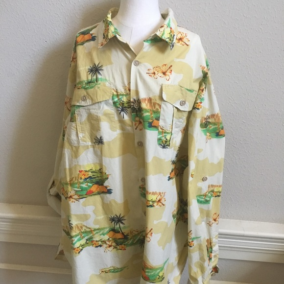 6c112ef6 Men's Long Sleeve Rocawear Hawaiian 3XL Shirt🌴. M_5b159dbd3e0caa93097b34cc